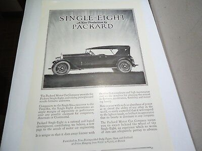 Vintage Car Automobile Ad Print Single Eight Four Door By Packard