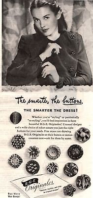 1945 Good Housekeeping Magazine Advertisement B.G.E Buttons 1 Page 339