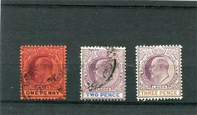 Lagos 3 --E7  Mm/used Stamps. 1D.2D.3D.on Stockcard