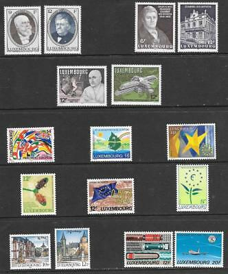 LUXEMBOURG - 5 x Sets + 6 x Singles, MNH - 1987-1994 Period.  Cat £32
