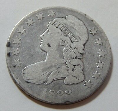 1833 Capped Bust Half Dollar Silver Coin - Cleaned
