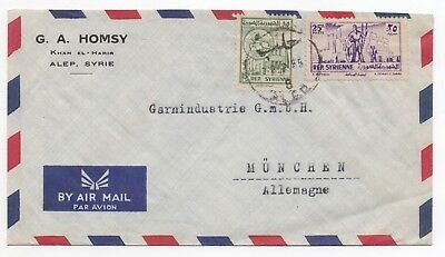 1955 MIDDLE EAST Air Mail Cover ALEP to MÜNCHEN, GERMANY