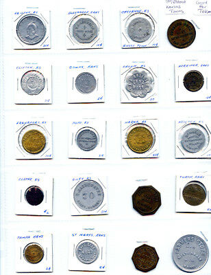 20 Pack Different Kansas Towns Good For Token