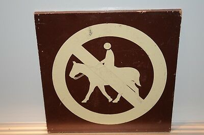 No Horse Back Riding Wood Sign Horses Animals Signs 1 Sign Vintage Antique Old..