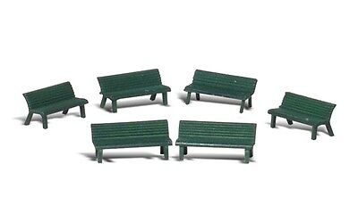 Woodland Scenics A2181 N Train Figures Park Benches