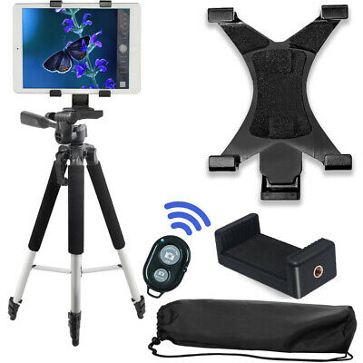 "57"" inch Pro Tripod, Tablet Mount + Smartphone Mount + Wireless remote"