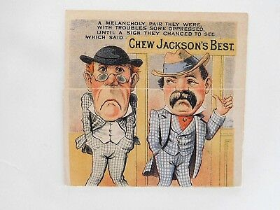 1880s Jacksons Best Petersburg VA Tobacco Metamorphic San Francisco TRADE CARD