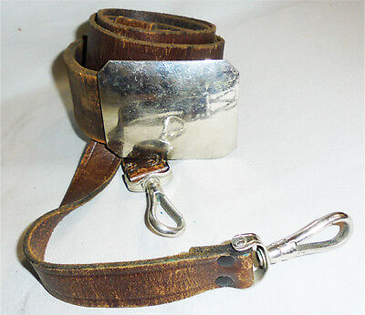 1800's -Masonic Scottish Rite- Vintage Leather Victorian Sword Belt w/Buckle