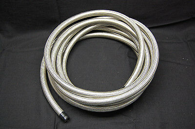 "Spectre 39525 Stainless Steel Braid Flex Hose Water Fuel Oil Line 1/2"" ID x 25'"