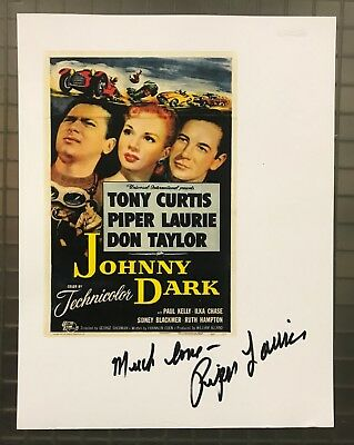 62064 Piper Laurie Signed 8x10 JOHNNY DARK Movie Print Autographed AUTO