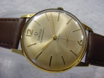 Vintage GOLD PL large antique ART DECO mens watch wristwatch