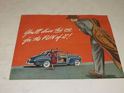 Vintage 1941 MERCURY AUTOMOBILE BROCHURE