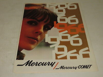 Vintage 1966 Mercury Comet Automobile Brochure