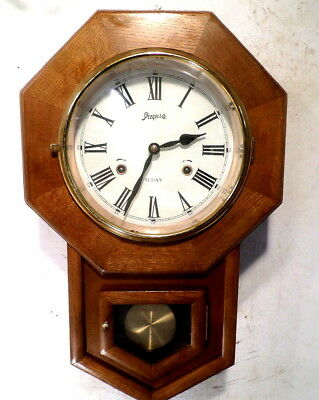 Vintage Month Running Schoolhouse Clock By Spiegel & Company