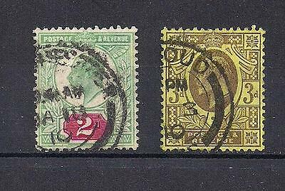 Great Britain King Edward Vii Used Stamps - Scott 130 & 132 - Rb50