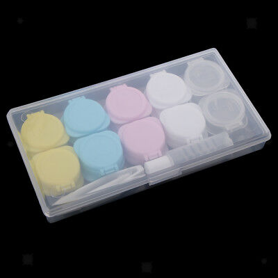 Contact Lens Portable Travel Holder Storage Soaking Box Case with Organizer