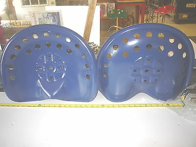 4 New Blue  Antique Style Horse Farm Machine & Tractor Metal Bar Stool Seat
