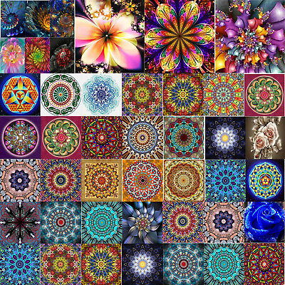 DIY Cross Stitch 5D Full Diamond Painting Embroidery Flower Home Decor Crafts