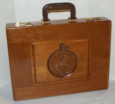 H. Gerstner & Sons Solid Wood Attaché/briefcase! Customized With Carousel Horse!