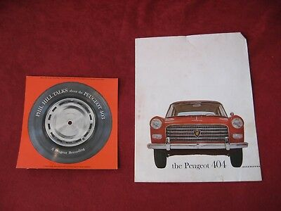 1955-1965? Peugeot Original Showroom Dealership Brochure Salesman Old Booklet