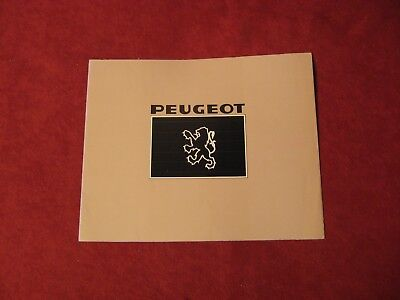 1977? Peugeot Original Showroom Dealership Brochure Salesman Old Booklet