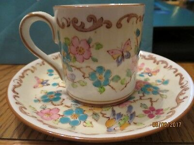 VINTAGE Crown Staffordshire,Fine Bone China, Tea Cup & Saucer made in England