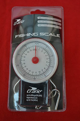 "New Crane 22Kg Fishing Scale With 39"" Tape Measure! Sealed!"