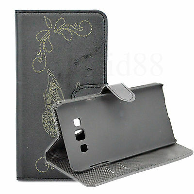 Wallet Leather Mobile Phone Magnetic Flip Case Cover For Samsung Galaxy A7 2015