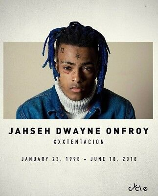 "XXXTENTACION Rapper Fabric Poster  16x13"" 28x24"" Decor 05"