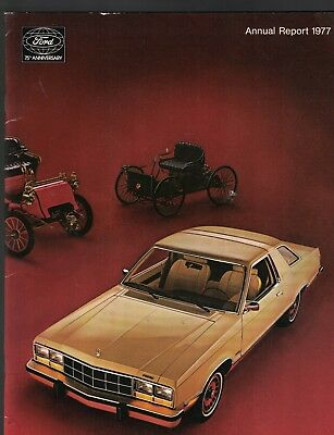 Ford Motor Company Annual Report 1977 Cars Automobiles
