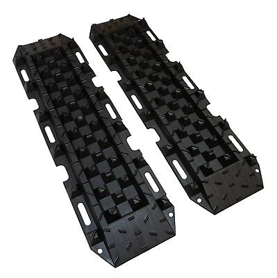 2x 4.5t Recovery Tracks Black Sand/Mud/Snow 4x4 ramps ladder waffle board