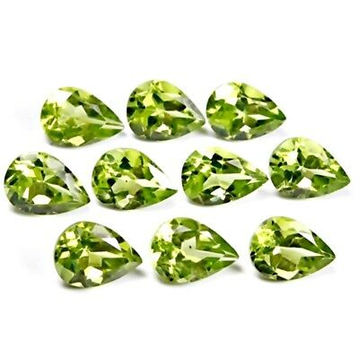 Wholesale Lot of 7x5mm Pear Facet Cut Natural Peridot Loose Calibrated Gemstone