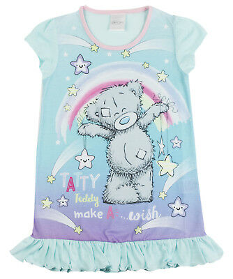 Girls Me To You Tatty Teddy Nightie Nightdress Pjs Kids Character Nightwear Size