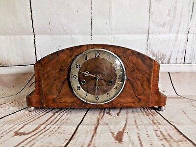 Vintage 1930's German Made Chiming Mantle Clock. Not Working.  (Hospiscare)
