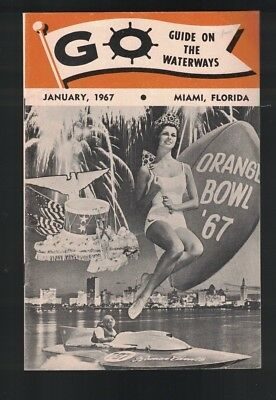 Go Guide on the Waterways January 1967 Miami Florida Booklet Boat Show