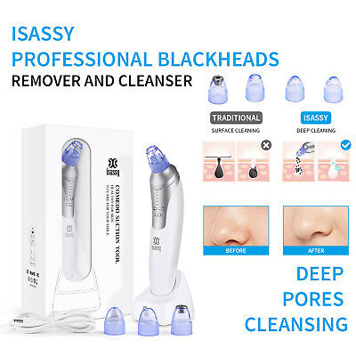 Electric Facial Pore Blackhead Remover Cleaner Vacuum Suction Acne Zit Cleanser