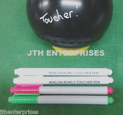 Lawn Bowls Toucher Pens Liquid Chalk Variety Pack Toucha Pen pink, green & blue