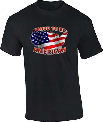 US Flag Proud To Be An American USA Patrioitic T-Shirt