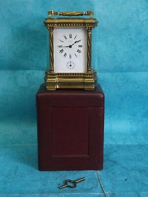 19th C(?)  G.Kreitz Anvers Heavy Solid Brass Chiming Travel Clock.  (Hospiscare)