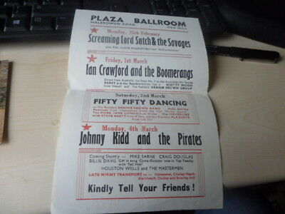 Music Flyer Plaza Ballroom-Screaming Lord Sutch Etc