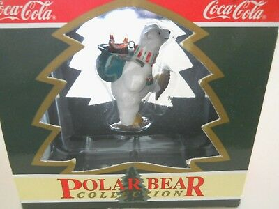 "Coca Cola POLAR BEAR COLLECTION Ornament ""North Pole Delivery"" 1994 NOS"