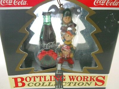 "Coca Cola BOTTLING WORKS COLLECTION Ornament ""Tops off Refreshment"" 1994 NOS"