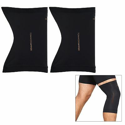 Tommie Copper Core Compression Knee Sleeve Set of 2 Fit Black