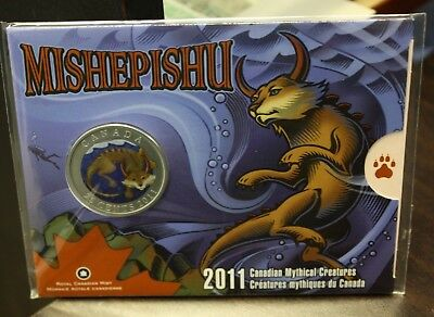 2011 Canada Mishepishu 25 Cents Coloured - Sealed
