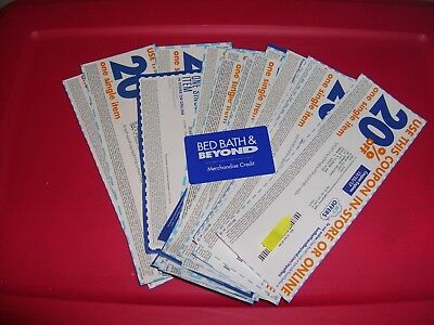 24 Bed Bath & Beyond Coupons 20% One Single Item + Merchandise Credit $1.94
