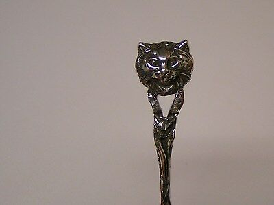 Salt Spoon Sterling Silver (Persian Cat   )