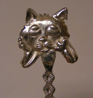 Salt Spoon Sterling Silver ( Cat Face    )