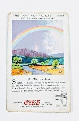 1930 Coca Cola~The World of Nature~Earth Air and Sky~#12 The Rainbow~Series 1