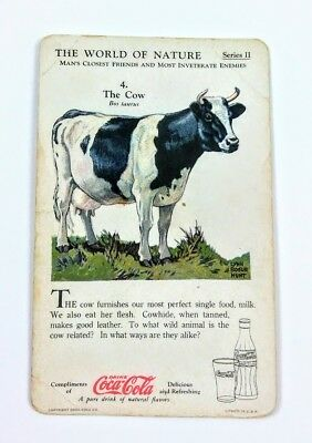1930 Coca Cola~The World of Nature~#4 The Cow~Series 2~Man's Closest Friends