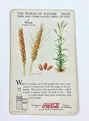 1930 Coca Cola~The World of Nature~#2 Wheat~Series 3 Trees, Other Useful Plants